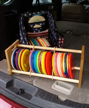The Disc Rack Your Disc Golf Storage Solution